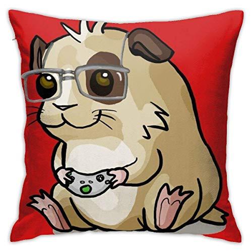 Lawenp Fundas de Almohada para Dormitorio Gamer-Pig Funda de Almohada Cuadrada para sofá Decorativa para el hogar, 18 x 18 Pulgadas