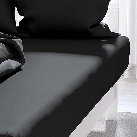 Atmosphère 613217 Drap Housse Noir Atmo 140 x 190 cm