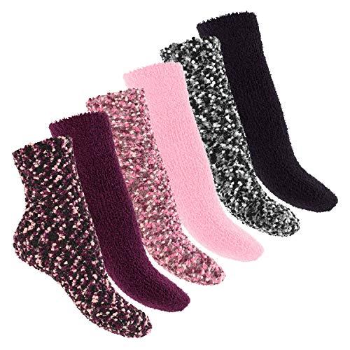 Footstar Damen 6 Paar Soft Socks Kuschelsocken - 35-38