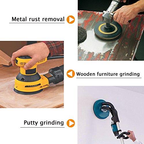 LESNIC 40 Uds 80 granos 5 pulgadas 8 agujeros lijadora papel de lija almohadillas de lijado redondas papel de lijado sin polvo gancho y bucle surtidos