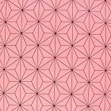 麻の葉文様 麻の葉柄 生地 ブロード 和柄 ピンク 桃色 NBK 生地 布 コスプレ 巾約112cm×50cm切売カット IBK99078-2A-50CM