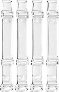 Secret Admirer Women's Adjustable Transparent Silicone Bra Straps (Free Size)