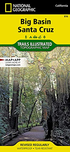 Big Basin/santa Cruz Parks And Preserves: Trails Illustrated Other Rec. Areas: 816 (National Geographic Trails Illustrated Map)