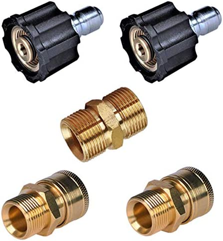 YAMATIC Pressure Washer Quick Connectors M22 to 3 8 Quick Connector 2 Sets 2 M22 14mm Male Extension product image