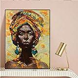 wZUN Pintura de la Lona Arte de la Pared Imagen Impresa en Lienzo Mujeres Negras decoración del hogar Cartel de la Pared decoración Sala de Estar 60x90 Sin Marco