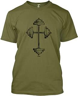 Barbell Cross - Gym Workout Crossfit Faith Men's T-Shirt