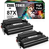 Cool Toner Compatible Toner Cartridge Replacement for HP 87X CF287X HP 87A CF287A for HP Laserjet Enterprise M506 M501dn M506dn M506N M506X MFP M527dn M527c M527z Printer Ink (Black, 2-Packs)