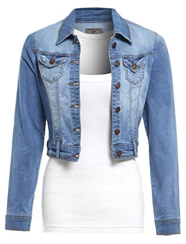 SS7 Neuer Frauen Stretch Jeansjacke,sizes 8 to 16 - Denim Blau, 36