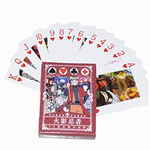 XiYon 54 Stück/Set Anime Naruto Mini Poker Karten Naruto Sasuke Sammlung Karten Party Brettspiel Spielzeug Geschenk