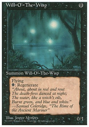 Magic The Gathering - Will-o39;-The-Wisp - Fourth Edition