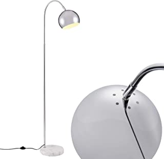 Arched White Floor Lamp, Modern Light with White Marble Base [Archiology] 61