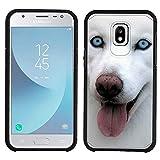 Galaxy J3 2018 Case [Husky Blep](Black) PaletteShield Hybrid Armor Skin Phone Cover (fit Samsung Galaxy J3V 2018/ Star/Achieve/ Express Prime 3)