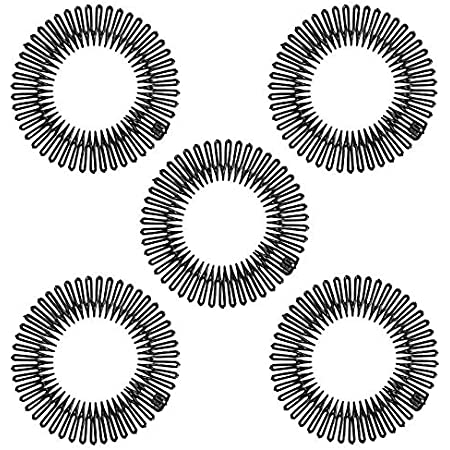 flexibel 3x Haarreif Spirale gelb   NEU Zick Zack 1385