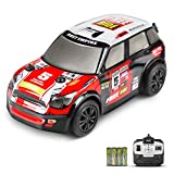 INVINZER Remote Control Race Car, Mini RC Racer with 4 AA Batteries, 2.4Ghz Fast RC Car, RC Hobby Vehicle Toy Gifts for Kids Aged 6-14