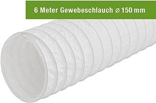 EASYTEC Abluftschlauch Durchmesser 150 mm / 152 mm Länge 6 Meter Gewebe Schlauch