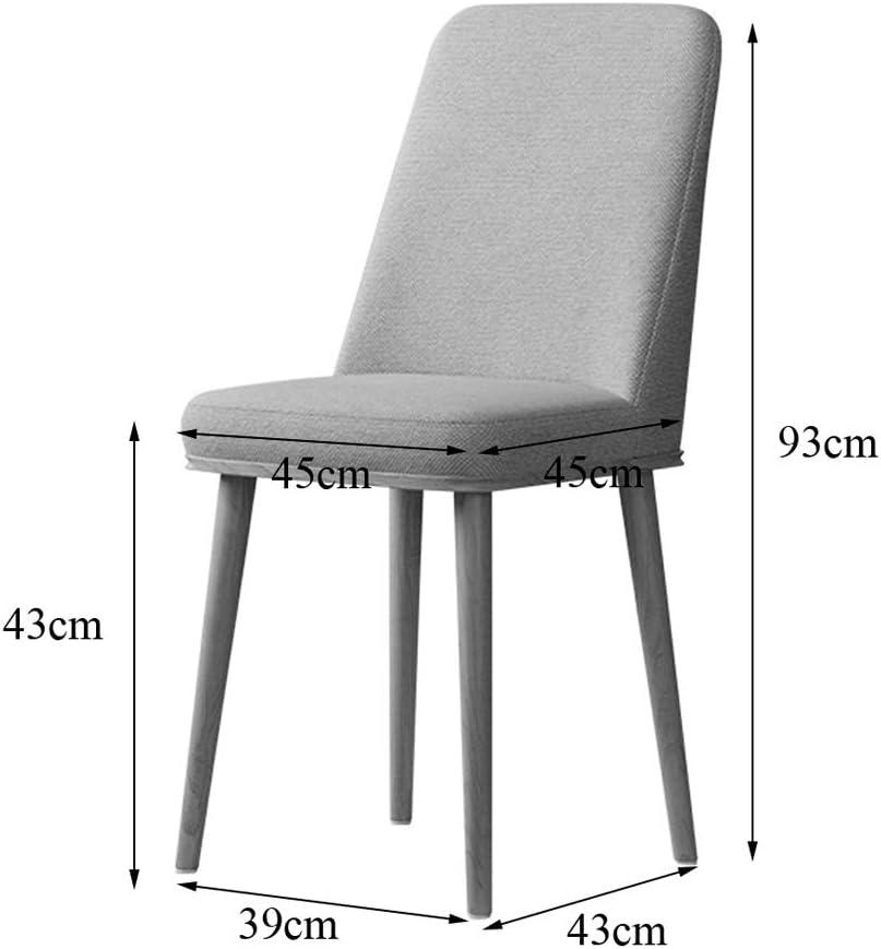 Chaises Salle à Manger en Bois Souple Assise et Jambes/Tissu de Haute qualité/pour Balcon terrasse Salon, capacité de Poids 150KG / Taille 39 * 43 * 93cm D