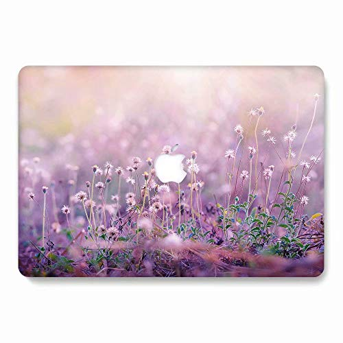 AQYLQ Funda Dura para 2018/2017/2016 MacBook Pro 13 Pulgadas con/sin Touch Bar A1706/A1708/A1989, Ultra Delgado Carcasa Rígida Protector de Plástico Cubierta, 751 Flor Morada