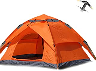 Outdoor double camping full automatic double spring 3-4 person beach camping tent Essential tents for hiking, climbing and...