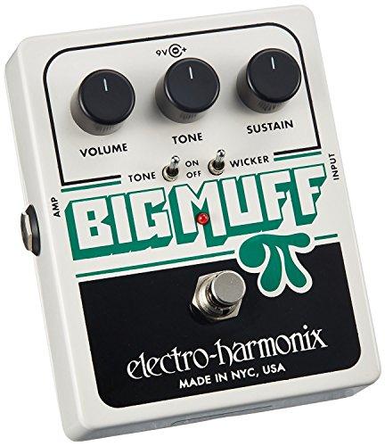 Electro Harmonix BM WICKER Big Muff Pi with Tone Wicker - Pedal de distorsión para guitarra, color plateado