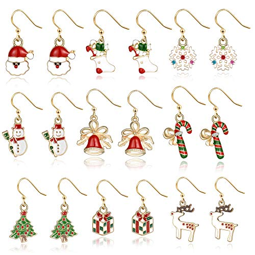 Christmas Earrings Holiday Jewelry Set gifts for Womens Girls,Thanksgiving Xmas Jewelry Christmas...