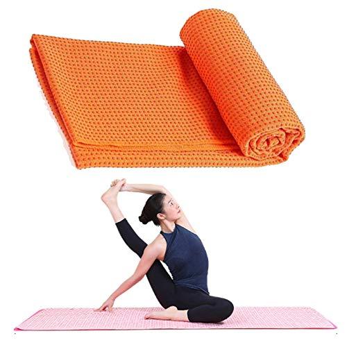 Lumanby Toalla de yoga Yoga Mat Yoga Mat Toallas con malla bolsa de transporte de secado rápido antideslizante punto agarre Pilates toalla punto yoga toalla 72x24 pulgadas