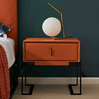 Bedside Table Bedside Table, Nordic Bedroom pu Leather Bed Corner Table Simple Small Space Locker, Suitable for: Living Ro...