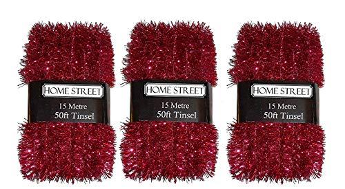 50 Foot Extra Lang, Anhänger, Silber, Rot, Violett Und Gold-Homestreet Weihnachtsdekoration rot