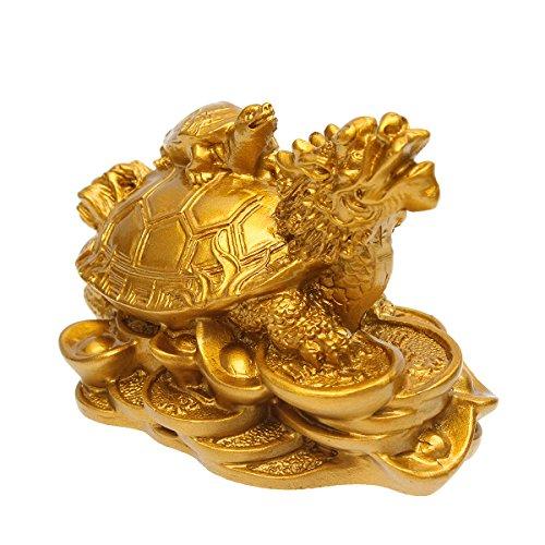 DyNamic Résine Statue Décoration Feng Shui Tortue De Dragon