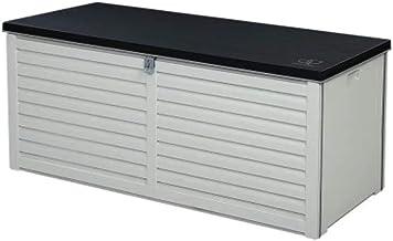 Gardeon 360L Outdoor Storage Lockable Box Brown Weatherproof Garden Deck Toy Shed