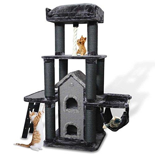 CanadianCat Company ® | XXL Kratzbaum Toronto 2 in Shadow-grau - speziell für große und schwere Katzen
