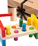 Jaques of London Deluxe Hammering Toy Let's Play Hammer Bench Montessori Wooden Toy – Perfect Toys for 1 2 3 year olds boys and girls Since 1795