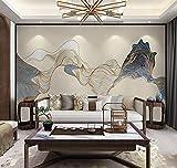 Ksnrang 10D Mural Dibujado a Mano Magnolia Flower Pájaro Papel Tapiz Lavado Sala de Estar TV Fondo Tela de Pared Sofá Sofá No Tejido Fondo de pantalla-21.8/1m2