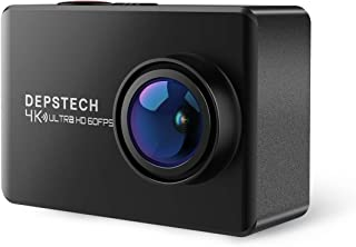4K 60FPS Action Camera, DEPSTECH HD Waterproof WiFi Video Sports Camera with EIS Anti-Shake Mode,Remote Control,Sony Sensor & Dual Batteries