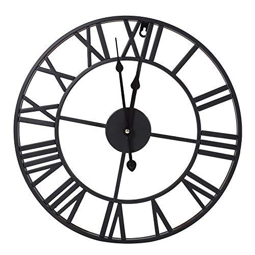 Yinuoday Reloj de Pared de Hierro Industrial Antiguo Redondo