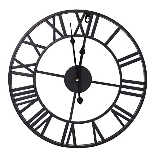 Cocoarm Reloj de Pared Mudo Vintage, Reloj de Pared de PéNdulo Romano de Estilo...