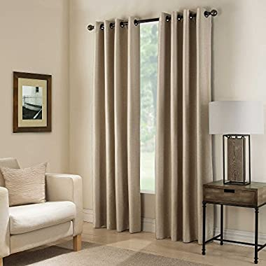 Gorgeous HomeDIFFERENT SOLID COLORS & SIZES (#92) 1 PANEL SOLID FOAM LINED BLACKOUT HEAVY THICK MICROFIBER WINDOW CURTAIN DRAPES GROMMETS (TAUPE TAN, 84  LENGTH)