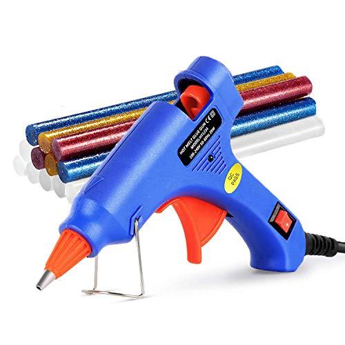 20W Heißklebepistole Klebepistole mit 50 Stück Klebesticks Heißklebepistole Set für Schule DIY Kunst Handwerk und schnelle Reparaturen in Haus& Büro