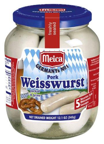 MEICA - Pork Weisswurst - BAVARIAN STYLE - Bayerische Weißwurst - 345 g   12.1 oz