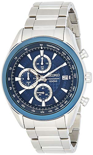 Seiko Herren Chronograph Quarz Uhr mit Edelstahl Armband SSB177P1