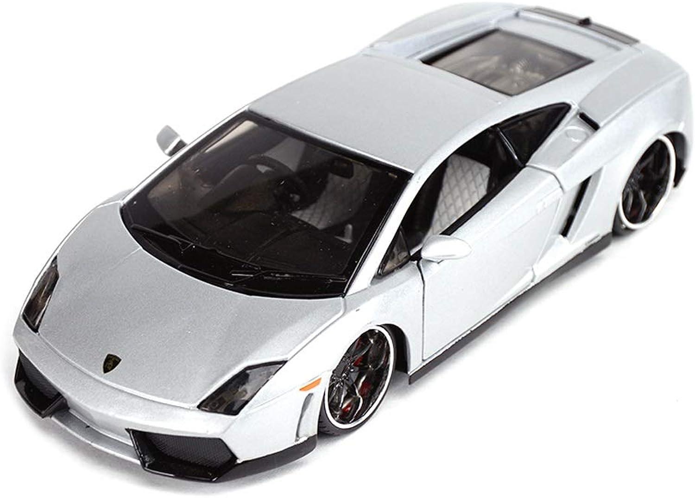 XINKONG modellolo D'auto modellolo di Auto Sportiva 1 24 statica in Lega di Simulazione modellolo di Auto Giocattolo Ornamenti Gioielli Collezione 18.5x9x5CM (Coloree   argento)