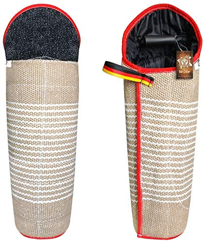 PET ARTIST Professional Jute Dog Training Bite Leg Sleeves with Handle for Training Work Dog Puppy,Long Leg Training Sleeves Fit Malinois Police K9 German Shepherd Mastiff