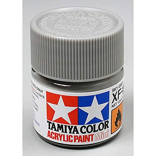 Tamiya 81719 - Pintura Acrílica Mini, Mate Gris Cielo Frasco de 10 ml, XF-19