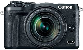 Canon EOS M6 Super Kit with EF-M 18-150mm IS STM Compact System Camera(M6SKB) 3 Inch Display,Black (Australian warranty)