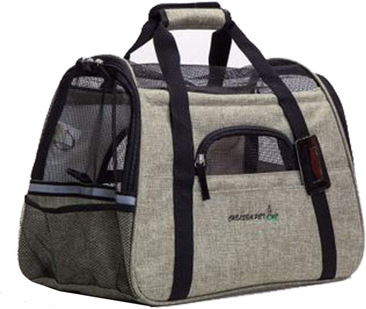 Pet Travel Carrier Dog Cat Puppy Lightweight Luxury Folding Airplane Bag with Soft Cushion