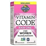 Garden Of Life Vitamin Code Raw One Una Vez Al Día Multivitamínico para Mujeres 30 Cápsulas 600 g