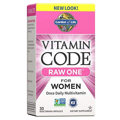 Garden of Life Garden of Life Multivitamin for Women - Vitamin Code Raw One Whole Food Vitamin Supplement with Probiotics, Vegetarian, 30 Capsules
