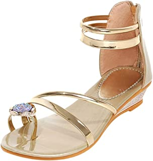 9ce18fdfd5898 Hot!!!Girls Summer Sandals,Womens Open Toe Flats Sparkle Wedding Bridal  Prom Ladies Party Shoes Sandals