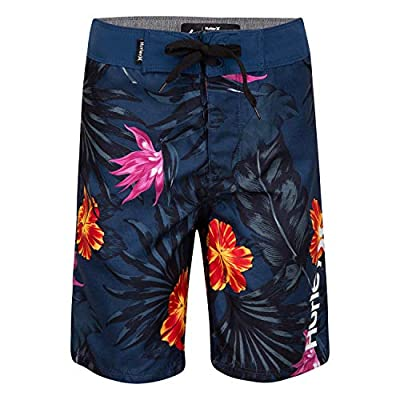 Hurley Boys' Classic Board Shorts, Blue Floral, 4T