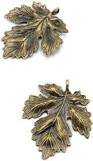 BM274 10pcs antique bronze color 40x20mm metal flower floral blossom branch leaf pendant charm jewelry DIY finding earring necklace drop