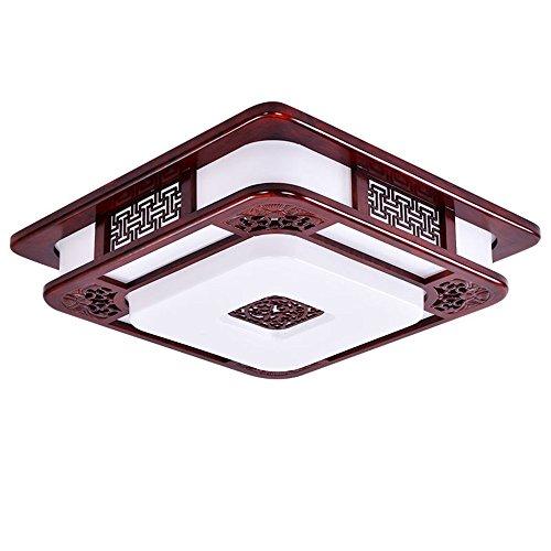 BRIGHTLLT Une chambre moderne et agréable lumière plafond chinois lumière LED carré en bois acajou antique 3 Étude des couleurs claires restaurant est clair, 550mm
